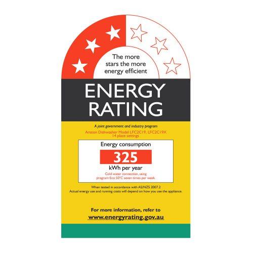 LFC2C19 - 60cm Freestanding Dishwasher - Energy Label