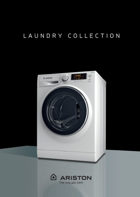 Ariston Laundry Brochure with washing machine